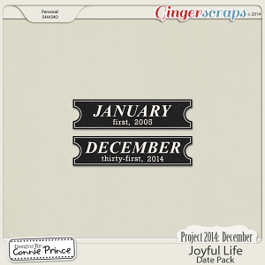 Project 2014 December: Joyful Life - Dates