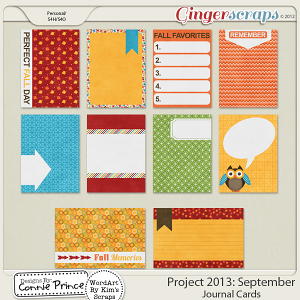 Project 2013:  September - Journal Cards