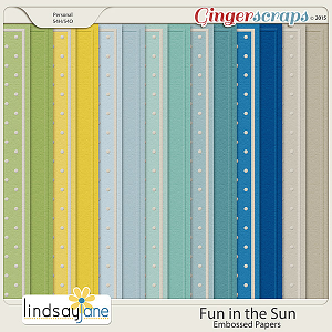 Fun In The Sun Embossed Papers by Lindsay Jane