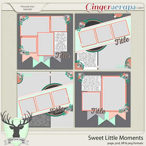 Sweet Little Moments Templates by Dear Friends Designs