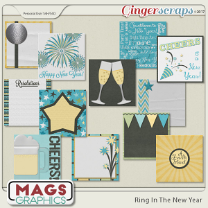 Ring In The New Year JOURNAL CARDS by MagsGraphics