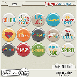 Project 2014 March: Life In Color - Flair Pack