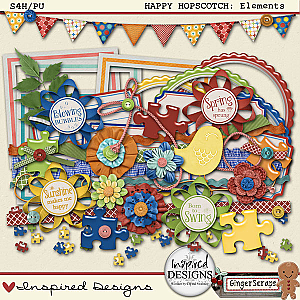 HAPPY HOPSCOTCH: Elements from Inspired Designs