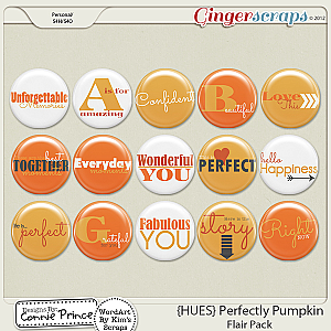 {HUES} Perfectly Pumpkin - Flair Pack