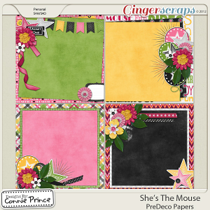 She's The Mouse - PreDeco Papers