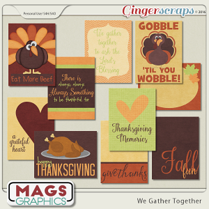 We Gather Together JOURNAL CARDS by MagsGraphics