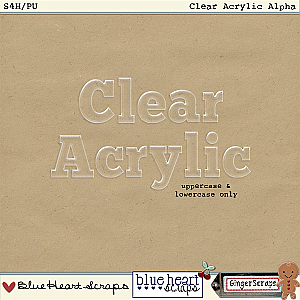 Clear Acrylic Alpha