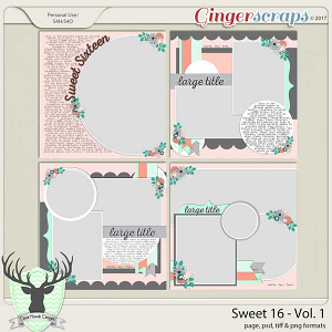 Sweet 16 Vol 1 Templates by Dear Friends Designs