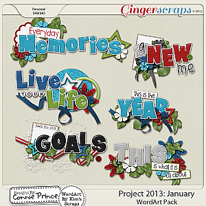 Project 2013: January - WordArt Pack
