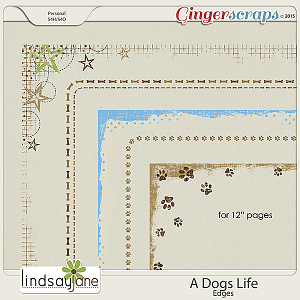 A Dogs Life Edges by Lindsay Jane