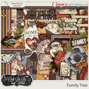 Family Tree Digital Scrapbook Kit