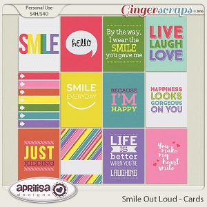 Smile Out Loud - Cards by Aprilisa Designs