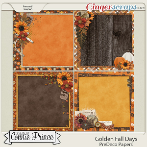 Golden Fall Days - PreDeco Papers