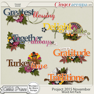 Project 2015 November - WordArt Pack