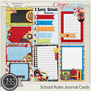 School Rules Journal and Pocket Scrapbooking Cards