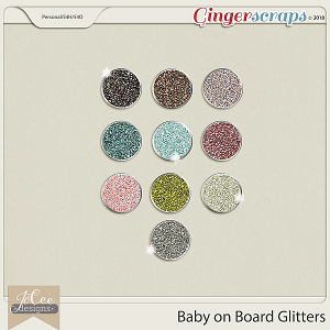 Baby on Board Glitters by JoCee Designs