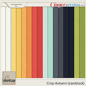 Crisp Autumn Cardstock by Chere Kaye Designs