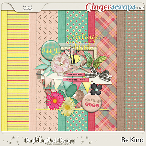 Be Kind Digital Scrapbook Kit By Dandelion Dust Designs