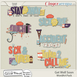 Get Well Soon - WordArt Pack