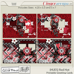 {HUES} Red Hot - Printable Greeting Cards