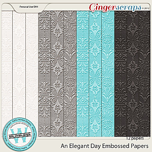 An Elegant Day Embossed Papers by Kathy Winters Designs