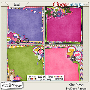 She Plays - PreDeco Papers