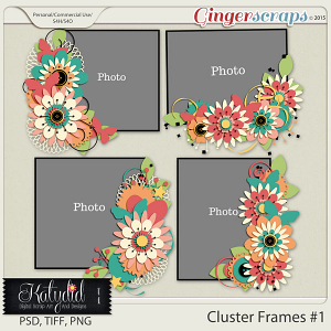Cluster Frame Layered Templates Pack No 1