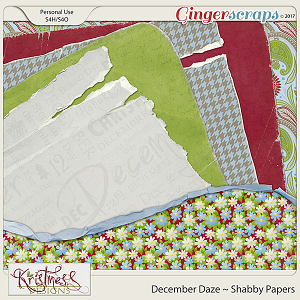 December Daze Shabby Papers