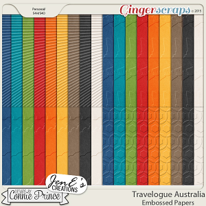 Travelogue Australia - Embossed Papers Pack