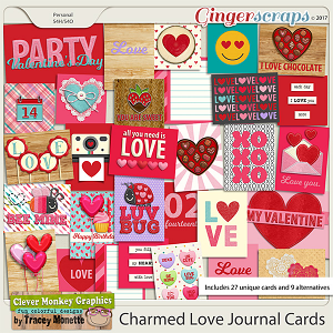 Charmed Love Journal Cards by Clever Monkey Graphics