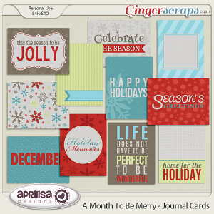 A Month To Be Merry Journal Cards by Aprilisa Designs