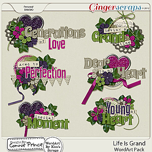 Life Is Grand - WordArt