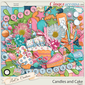 Candles and Cake Page Kit