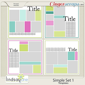 Simple Set 1 Templates by Lindsay Jane
