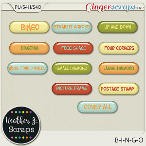 B-I-N-G-O WORD BITS by Heather Z Scraps