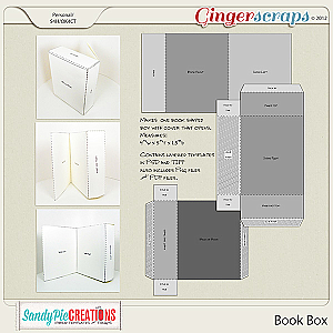 Book Box Hybrid Template by SandyPie Creations