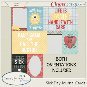 Sick Day Journaling Cards