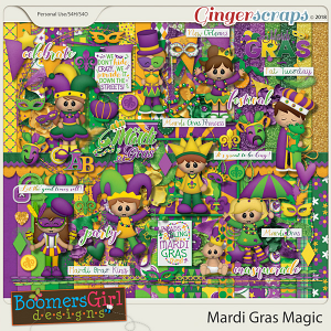 Mardi Gras Magic by BoomersGirl Designs