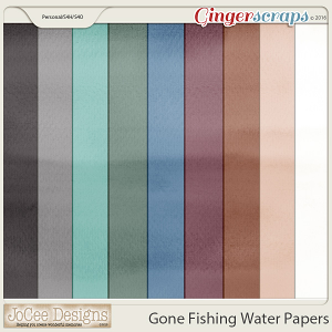 Gone Fishing Water Papers by JoCee Designs