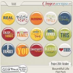 Project 2014 October: Bountiful Life - Flair Pack