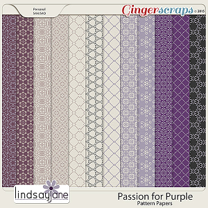 Passion for Purple Pattern Papers by Lindsay Jane