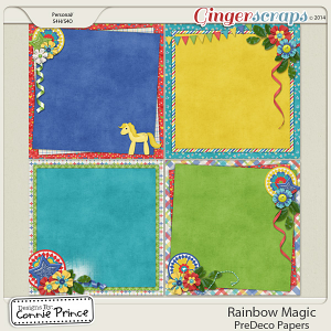 Retiring Soon - Rainbow Magic - PreDeco Papers