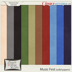 Music Fest {solid papers} by Little Rad Trio