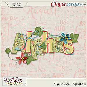 August Daze Alphabets