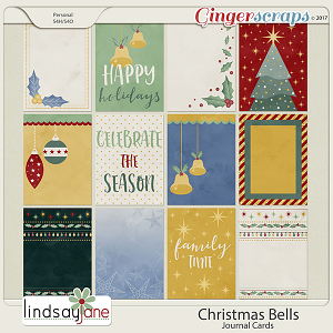 Christmas Bells Journal Cards by Lindsay Jane