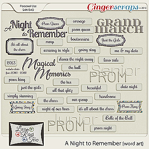 A Night to Remember {word art}