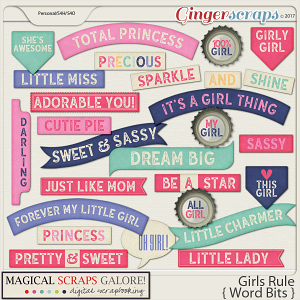 Girls Rule (word bits)
