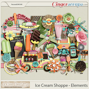 Ice Cream Shoppe Elements