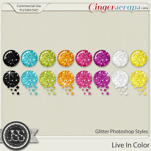 Live In Color Glitter Cu Photoshop Styles