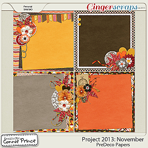 Project 2013:  November - PreDeco Papers